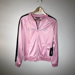 NWT Bebe Sport Pink Full Zip Track Jacket
